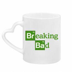 Кружка с ручкой в виде сердца Во все тяжкие (Breaking Bad)