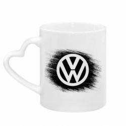 Кружка з ручкою у вигляді серця Volkswagen art