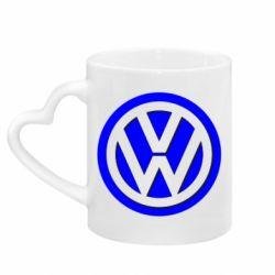 Кружка з ручкою у вигляді серця Логотип Volkswagen