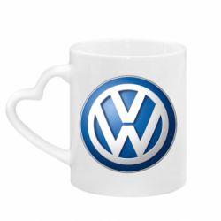 Кружка з ручкою у вигляді серця Volkswagen Small Logo