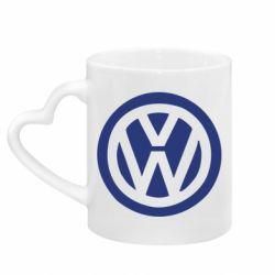 Кружка с ручкой в виде сердца Volkswagen