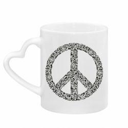 Кружка з ручкою у вигляді серця War Peace