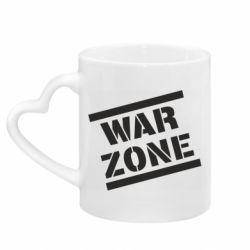 Кружка з ручкою у вигляді серця War Zone