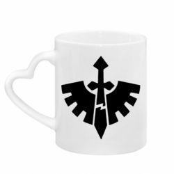 Кружка с ручкой в виде сердца Warhammer 40k Dark Angels