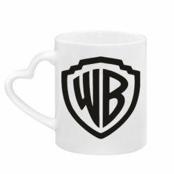 Кружка з ручкою у вигляді серця Warner brothers