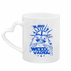 Кружка с ручкой в виде сердца Weed Vader