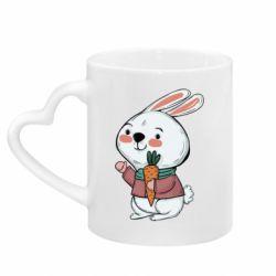 Кружка з ручкою у вигляді серця Winter bunny