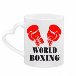 Кружка с ручкой в виде сердца World Boxing