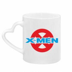 Кружка с ручкой в виде сердца X-men