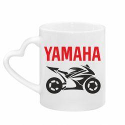 Кружка з ручкою у вигляді серця Yamaha Bike