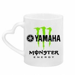 Кружка з ручкою у вигляді серця Yamaha Monster Energy
