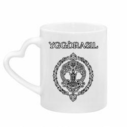 Кружка с ручкой в виде сердца Yggdrasil