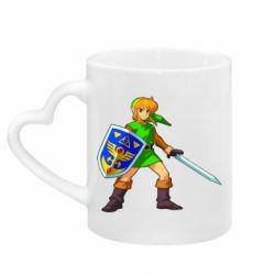 Кружка с ручкой в виде сердца Zelda