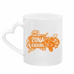 Кружка с ручкой в виде сердца Zona Enduro