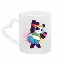 Кружка з ручкою у вигляді серця Zumba Panda