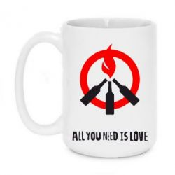 Кружка 420ml All you need is love (Коктейль Молотова) - FatLine
