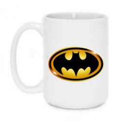 Кружка 420ml Batman logo Gold