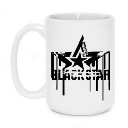 Кружка 420ml Black Star Logo - FatLine