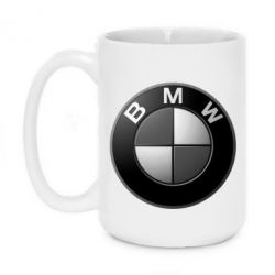 Кружка 420ml BMW Black & White - FatLine