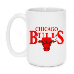 Кружка 420ml Бык на фоне Chicago Bulls - FatLine