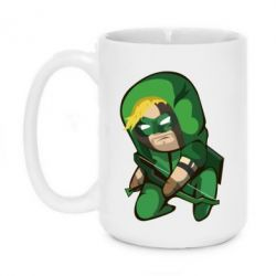 Кружка 420ml Cartoon Green Arrow - FatLine