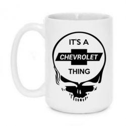 Кружка 420ml Chevrolet It's a thing - FatLine