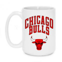 Кружка 420ml Chicago Bulls с надписью - FatLine
