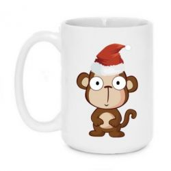 Кружка 420ml Christmas monkey - FatLine