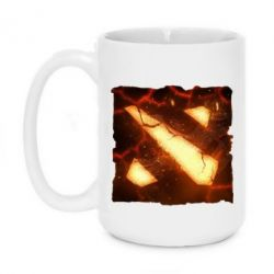 Кружка 420ml Dota 2 Fire Logo - FatLine