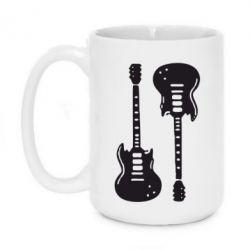 Кружка 420ml Две гитары - FatLine