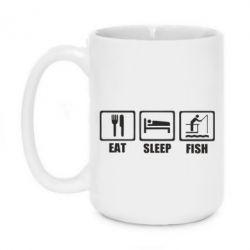 Кружка 420ml Eat, sleep, fish