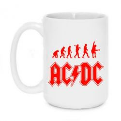 Кружка 420ml Эволюция AC\DC - FatLine