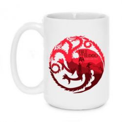 Кружка 420ml Fire and Blood