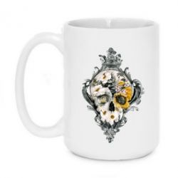 Кружка 420ml Flower Skull 3 - FatLine