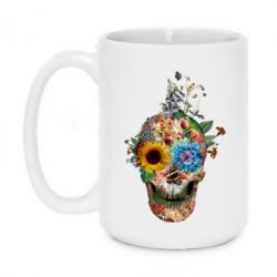 Кружка 420ml Flower Skull 5 - FatLine