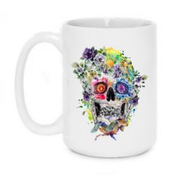 Кружка 420ml Flower Skull - FatLine
