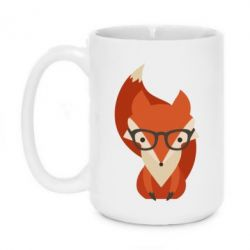 Кружка 420ml Fox in glasses - FatLine