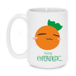 Кружка 420ml Funny orange
