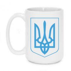 Кружка 420ml Герб України з рамкою - FatLine