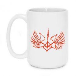 Кружка 420ml Герб з крилами - FatLine