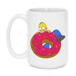 Кружка 420ml Гомер и Пончик