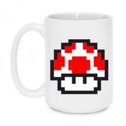 Кружка 420ml Гриб Марио в пикселях - FatLine