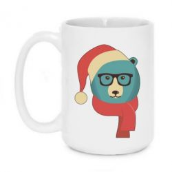 Кружка 420ml Hipster Christmas Bear - FatLine