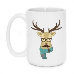 Кружка 420ml Hipster Christmas Deer - FatLine