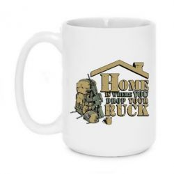 Кружка 420ml Home is where you drop your ruck - FatLine