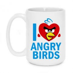 Кружка 420ml I love Angry Birds