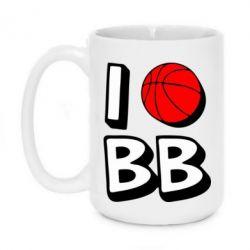 Кружка 420ml I love basketball - FatLine