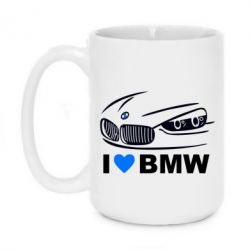 Кружка 420ml I love BMW 2 - FatLine