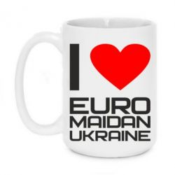 Кружка 420ml I love Euromaydan Ukraine - FatLine