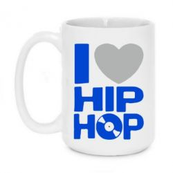 Кружка 420ml I love hip-hop - FatLine